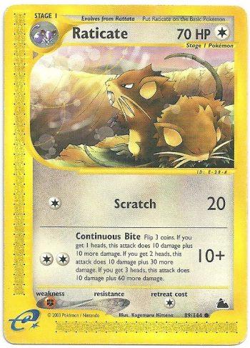 Raticate Skyridge 89144 Comune Carte Pokémon