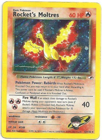Rocket s Moltres Gym Heroes 12132 Rara Holo Carte Pokémon