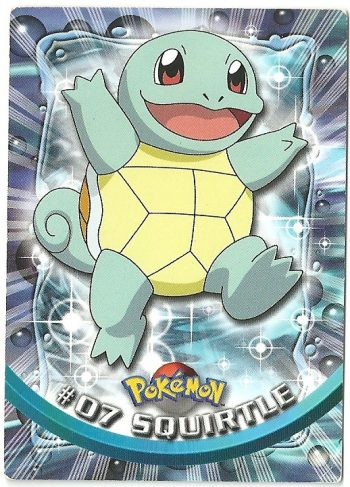 Squirtle 07 Serie 1 Carte Pokémon TOPPS
