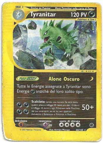 Tyranitar Expedition 66164 Rara Carte Pokémon