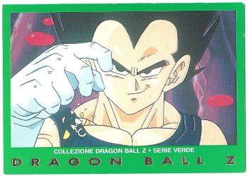 Vegeta 71 Carte Collezione Dragon Ball Z Serie Verde