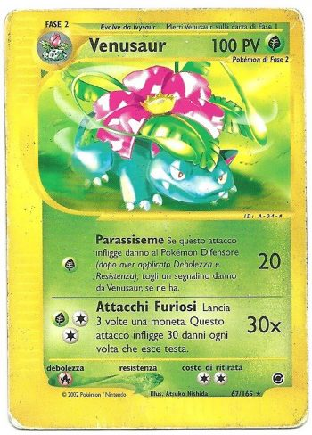Venusaur Expedition 67165 Rara Carte Pokémon