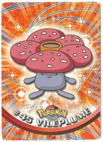 Vileplume 45 Serie 1 Carte Pokémon TOPPS