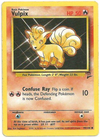 Vulpix Set Base 2 99130 Comune Carte Pokémon