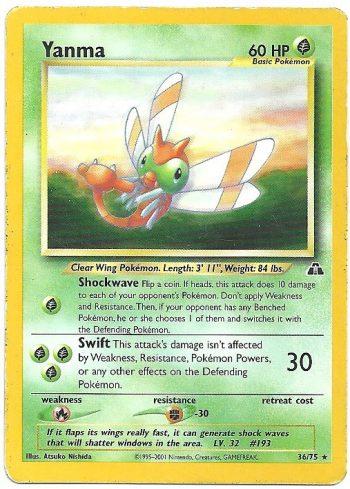 Yanma Neo Discovery 3675 Rara Carte Pokémon
