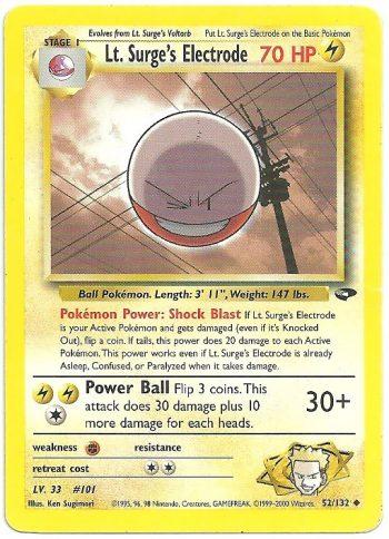 Lt. Surge's Electrode – Gym Challenge – 52132 – Non Comune – Carte Pokémon