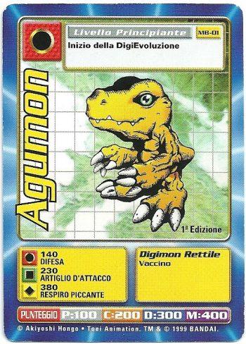 Agumon MB 01 1st ed Carte Digimon