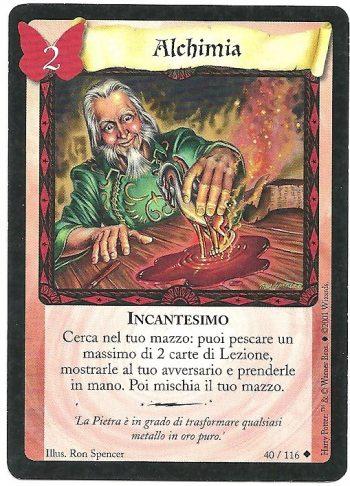 Alchimia Set Base 40116 Non Comune Carte Harry Potter