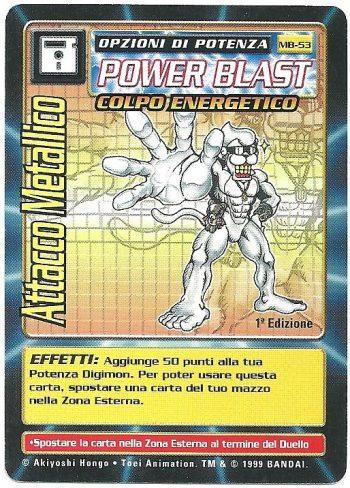 Attacco Metallico MB 53 1st ed Carte Digimon