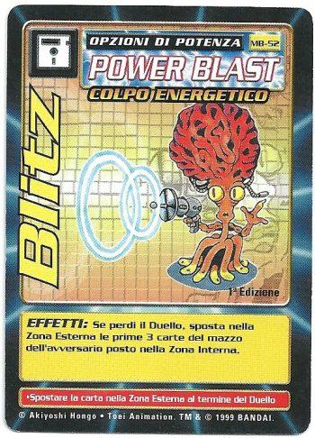 Blitz MB 52 1st ed Carte Digimon