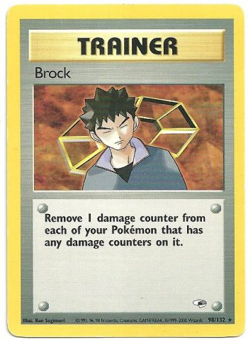 Brock Gym Heroes 98132 Rara Carte Pokémon