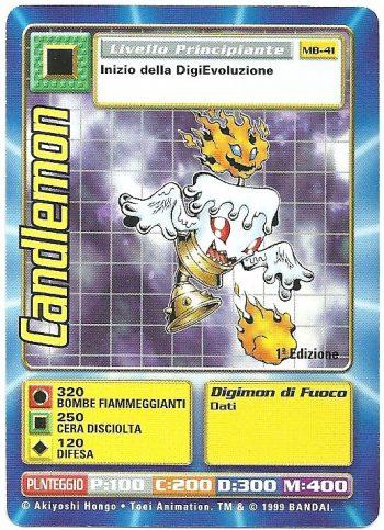 Candlemon MB 41 1st ed Carte Digimon