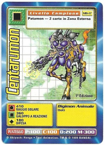 Centarumon MB 17 1st ed Carte Digimon