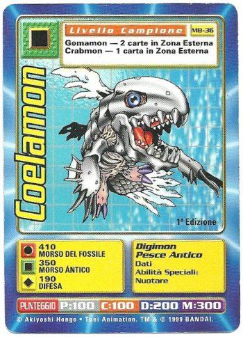 Coelamon MB 36 1st ed Carte Digimon