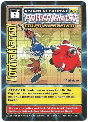 Contrattacco MB 54 1st ed Carte Digimon