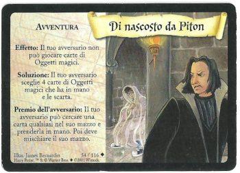Di nascosto da Piton Set Base 54116 Non Comune Carte Harry Potter rotated