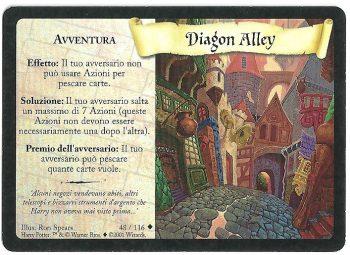 Diagon Alley Set Base 48116 Non Comune Carte Harry Potter rotated