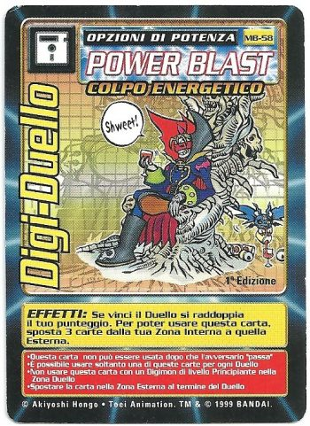 Digi Duello MB 58 1st ed Carte Digimon