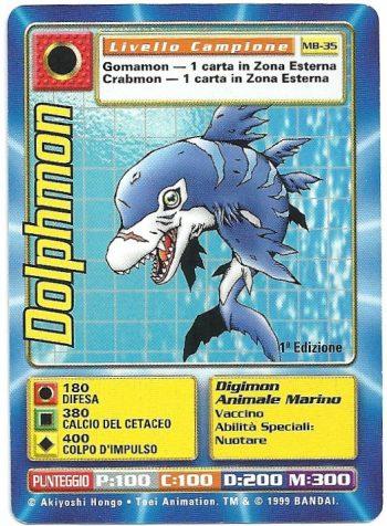 Dolphmon MB 35 1st ed Carte Digimon