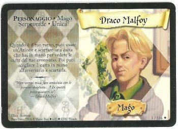 Draco Malfoy Set Base 3116 Rara Carte Harry Potter rotated
