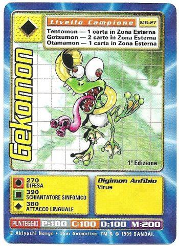 Gekomon MB 27 1st ed Carte Digimon