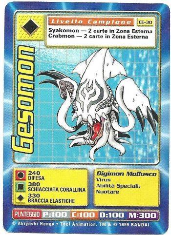 Gesomon CE 30 Carte Digimon