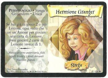 Hermione Granger Set Base 10116 Rara Carte Harry Potter rotated