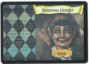 Hermione Granger Set Base 9116 Rara Holo Holo Portrait Premium Carte Harry Potter rotated
