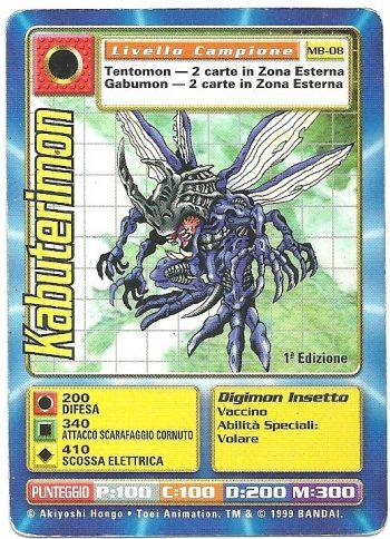 Kabuterimon MB 08 1st ed Carte Digimon