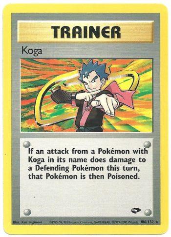 Koga Gym Challenge 106132 Rara Carte Pokémon