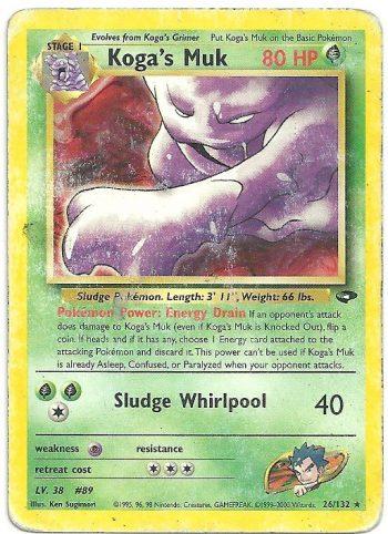 Koga s Muk Gym Challenge 26132 Rara Carte Pokémon