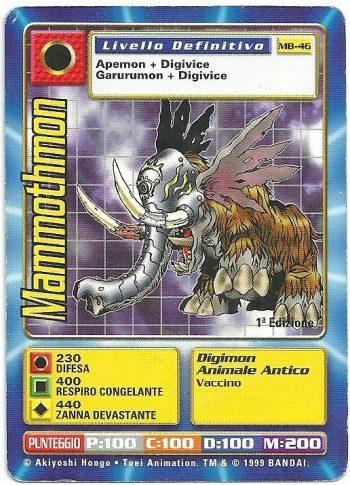 Mammothmon MB 46 1st ed Carte Digimon