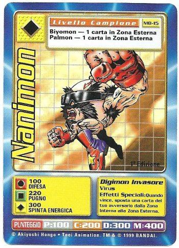 Nanimon MB 15 1st ed Carte Digimon