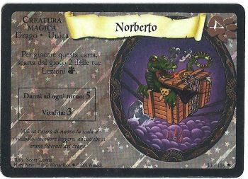 Norberto Set Base 30116 Rara Holo Foil Carte Harry Potter rotated