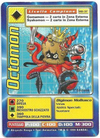 Octomon MB 37 1st ed Carte Digimon