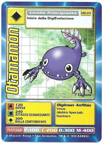 Otamamon MB 24 1st ed Carte Digimon