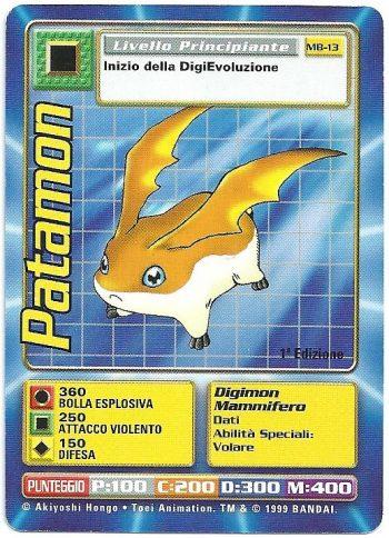 Patamon MB 13 1st ed Carte Digimon