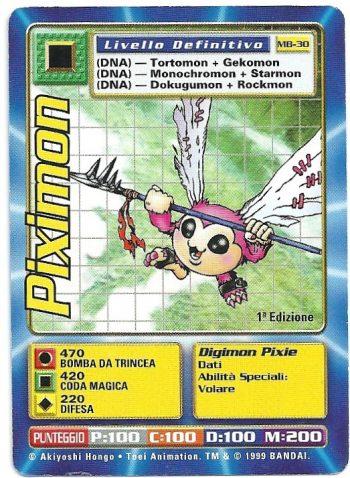 Piximon MB 30 1st ed Carte Digimon