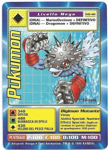 Pukumon MB 40 1st ed Carte Digimon