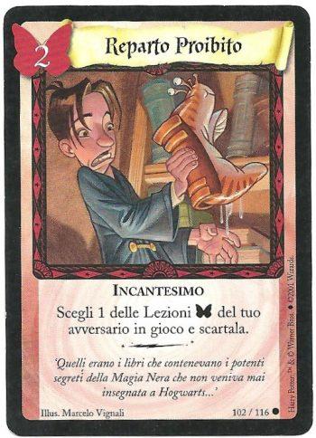 Reparto proibito Set Base 102116 Comune Carte Harry Potter