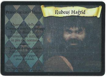 Rubeus Hagrid Set Base 18116 Rara Holo Holo Portrait Premium Carte Harry Potter rotated