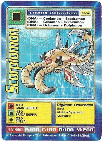 Scorpiomon CE 32 Carte Digimon