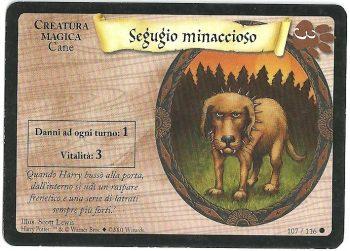 Segugio minaccioso Set Base 107116 Comune Carte Harry Potter