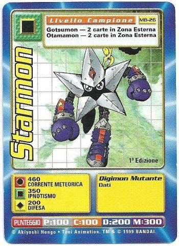 Starmon MB 26 1st ed Carte Digimon