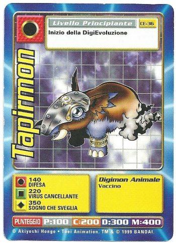 Tapirmon CE 36 Carte Digimon