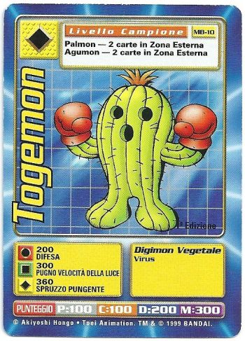 Togemon MB 10 1st ed Carte Digimon