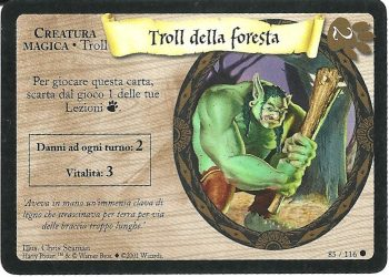 Troll della foresta Set Base 85116 Comune Carte Harry Potter rotated