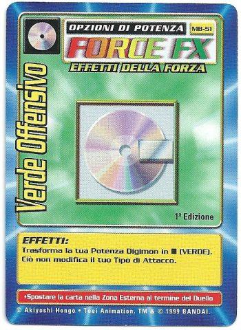Verde Offensivo MB 51 1st ed Carte Digimon