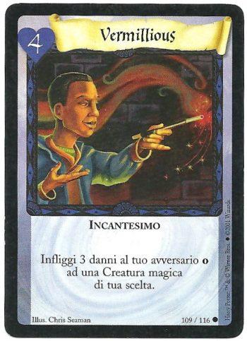 Vermillious Set Base 109116 Comune Carte Harry Potter