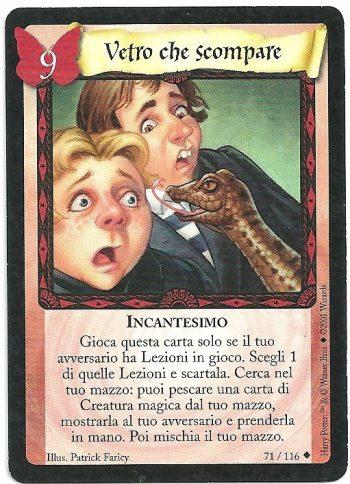 Vetro che scompare Set Base 71116 Non Comune Carte Harry Potter